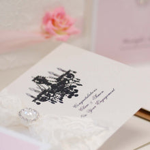 Load image into Gallery viewer, Handmade Wedding Anniversary card Paris Lace - theluxeco.co.uk