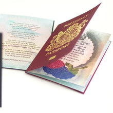 Load image into Gallery viewer, Personalised Foiled New Job New Life Passport Card