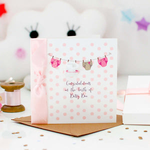 Congratulations for new born baby girl cards | The Luxe Co