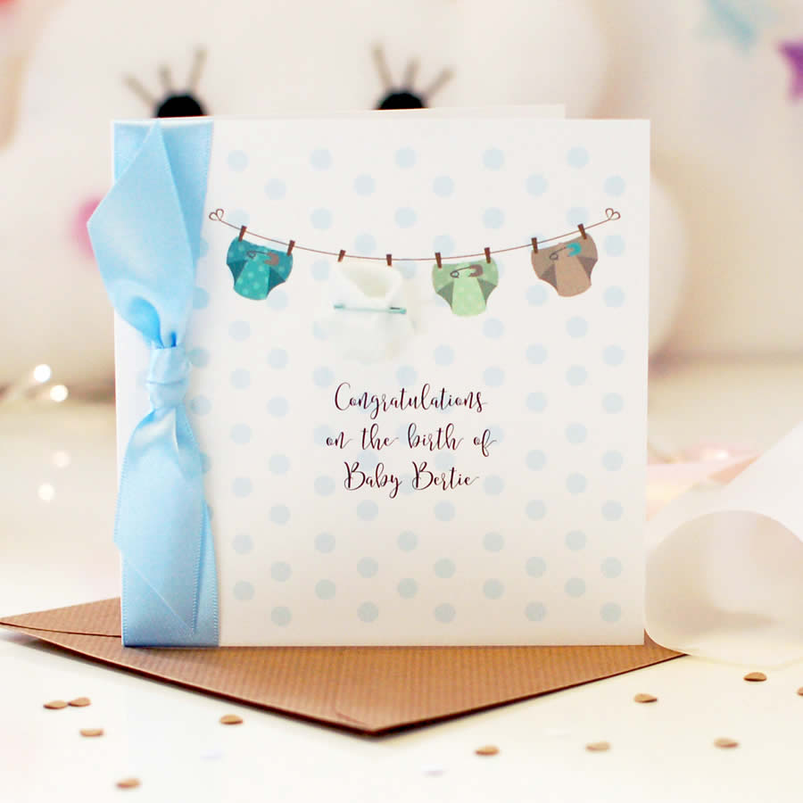 Personalised cute baby boy cards | The Luxe Co