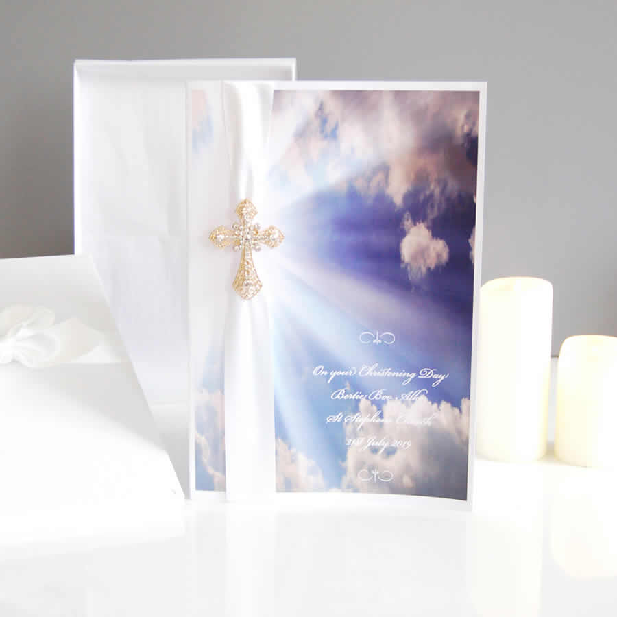 Heavenly Clouds Boxed Religious Card - theluxeco.co.uk