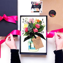 Load image into Gallery viewer, Hot pink roses scented anniversary cards by The Luxe Co
