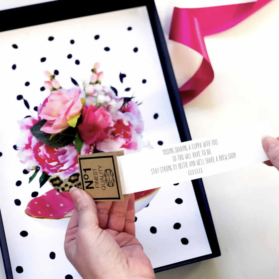 Personalised message for someone in isolation | The luxe co