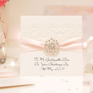 Luxury personalised christening cards | The Luxe Co