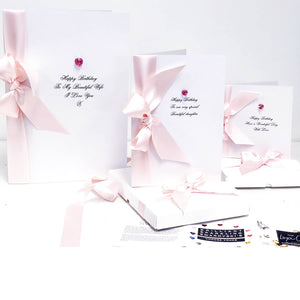pink birthday cards celebrating October birthdays