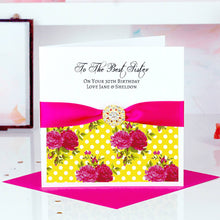 Load image into Gallery viewer, Custom Good luck card Tropical print - theluxeco.co.uk