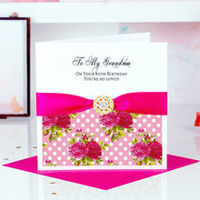 Load image into Gallery viewer, Custom Wedding Anniversary card Tropical print - theluxeco.co.uk