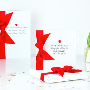 Luxury Swarovski Crystal Heart Boxed Valentines Card for my husband| The Luxe Co