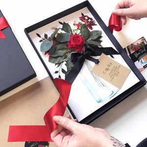 Start Personalising Your Bloom Scented Red Velvet Rose Boxed anniversary Card - theluxeco.co.uk