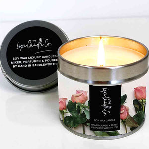 Mothers Day Candles rose scented soy wax candle gift