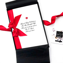 Load image into Gallery viewer, A4 Extra large boxed ruby personalised anniversary card | The Luxe Co