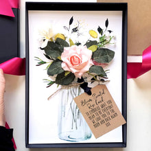 Load image into Gallery viewer, Blush rose Flower birthday card fragranced with oils | The Luxe Co