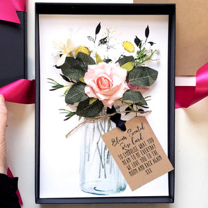 Personalised New baby flowers card | The Luxe Co