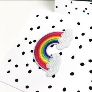 Rainbow clouds good luck card
