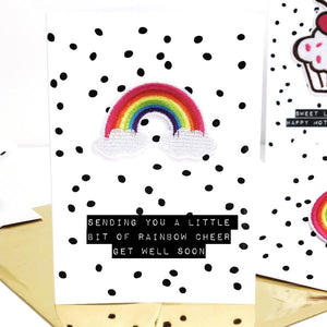 Sending you a little bit of rainbow cheer | Get well soon card | The Luxe Co