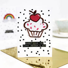 Load image into Gallery viewer, Scented Cupcake Motif Mothers Day Card - Sweet like you Happy Mother's Day