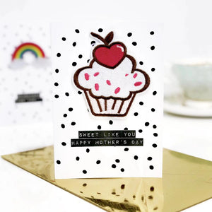 Scented Cupcake Motif Mothers Day Card - Sweet like you Happy Mother's Day