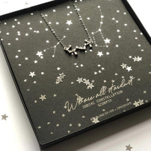 Load image into Gallery viewer, Sterling Silver Scorpio Zodiac star sign necklace with free gift box