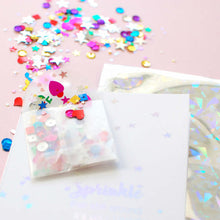 Load image into Gallery viewer, Sprinkle That Shit Rainbow Glitter Sequins Card - theluxeco.co.uk