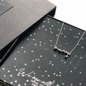 Star sign birthday gift | Sterling silver necklace in box | Zodiac star sign | The Luxe Co