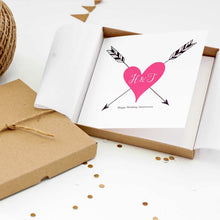 Load image into Gallery viewer, Personalised Tattoo Heart Card