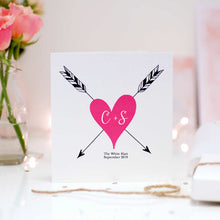 Load image into Gallery viewer, Luxury pink heart valentines day cards for boyfriend | The Luxe Co