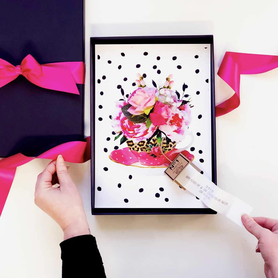 Boxed Tea Cup Mothers Day Card | The Luxe Co