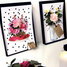 Load image into Gallery viewer, Boxed Afternoon tea Mothers Day Card with polka dots roses and teacups - theluxeco.co.uk