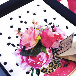 Stylish roses in a teacup boxed mothers day card - Handmade by The Luxe Co