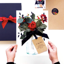 Load image into Gallery viewer, Ruby Velvet Rose Boxed Card for wife 40th anniversary b- theluxeco.co.uk