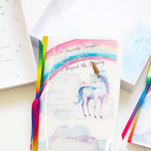Rainbow unicorn cards | The Luxe Co