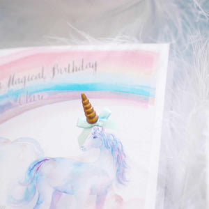 Unicorn childrens birthday cards for 2nd birthday | The Luxe Co
