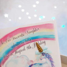 Load image into Gallery viewer, 3d Unicorn Cards for birthday | The Luxe Co