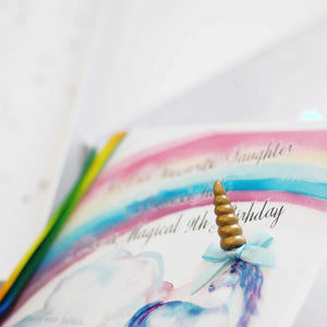 Unicorn childs Birthday Cards for 3rd birthday | The Luxe Co