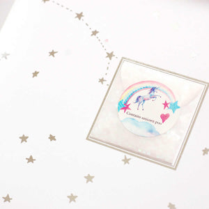 Pouch of Unicorn poo with each birthday card | The Luxe Co