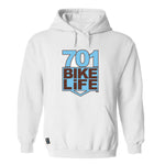 701 BIKELiFE Hoodie White/Blue/Brown
