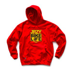 JRZY BIKELiFE Hoodie Red/Yellow