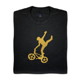 Mike Buff Black & Gold Logo Tee
