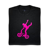 Mike Buff Black & Pink Logo Tee
