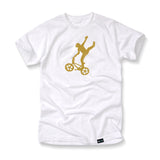 Mike Buff White & Gold Logo Tee
