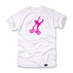 Mike Buff White & Pink Logo Tee