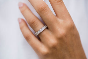 The Emalia Full Eternity (3.5x3mm) Elongated Asscher Cut Band