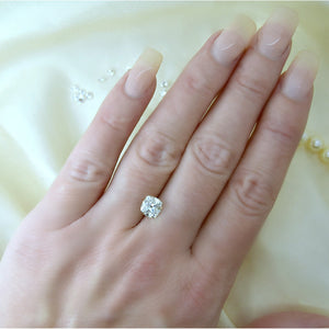 1.2 Carat (6.5mm) Old Mine Cushion Cut Moissanite Vintage Inspired Loose Stone (Modern White)