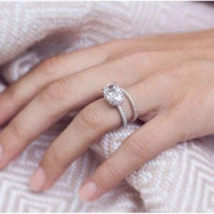SIENNA .60 CTW Micropave Three-Sided Dome 3/4 Eternity Moissanite Wedding or Stacking Band in 14K Rose Gold