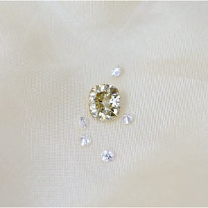 2.80 Carat Yellow Crushed Ice Cushion