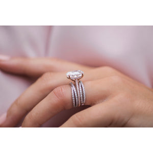 MILA .35 CTW Chic Crossover X Moissanite Stacking or Wedding Band in 14K White Gold
