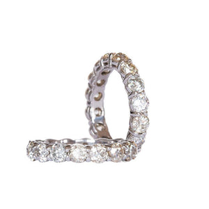 EMERSON 2.72 CTW 3.5mm Old European Cut Vintage Inspired Moissanite Eternity Wedding Band in 14K White Gold