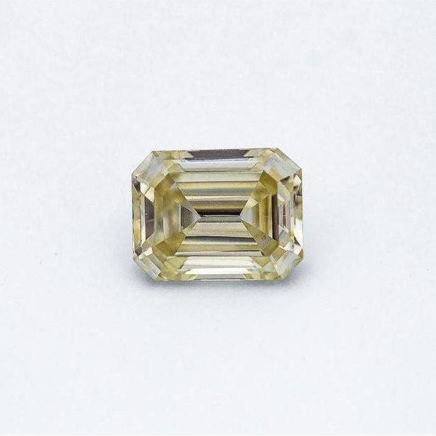 2.48 Carat Canary Yellow Emerald Cut