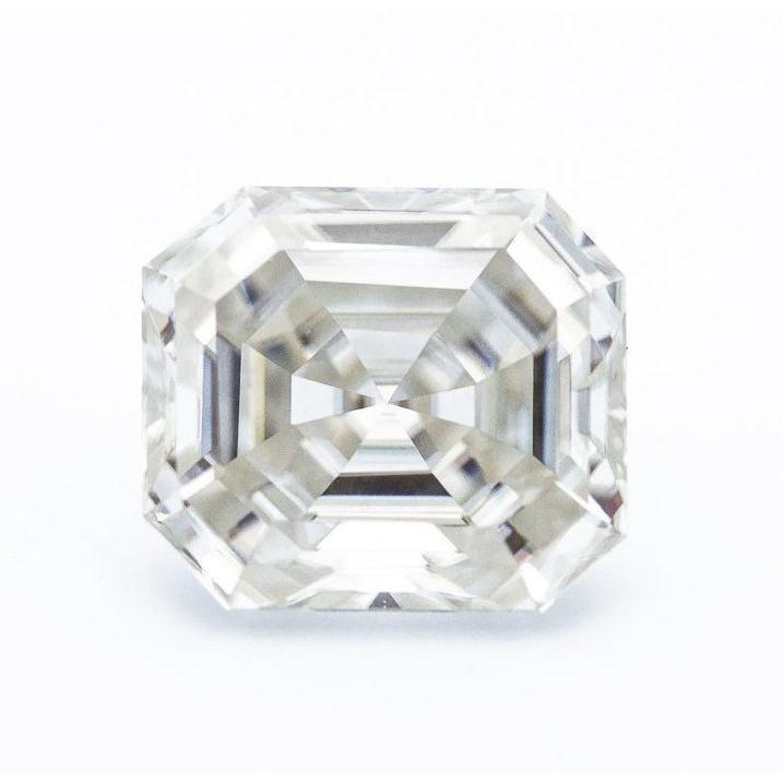7.7 Carat Modern White Asscher with Windmills