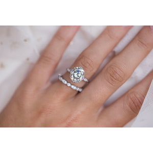HARLOW 4.5 Carat (10x9mm) Old Mine Cushion Cut Moissanite Vintage Inspired NSEW Triple-Split Prong Engagement Ring in White 14K Gold Setting